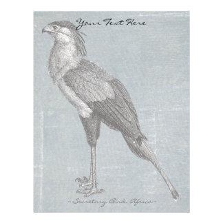 Vintage Secretary Bird Letterhead