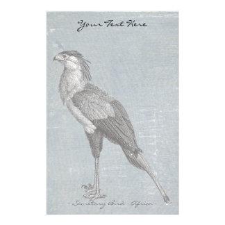 Vintage Secretary Bird Stationery