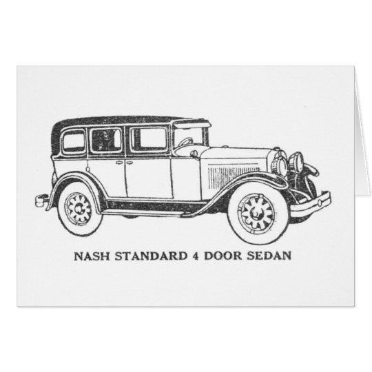 Vintage Sedan Car Card