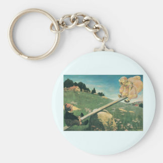Vintage See Saw Margery Daw, Jessie Willcox Smith Keychain