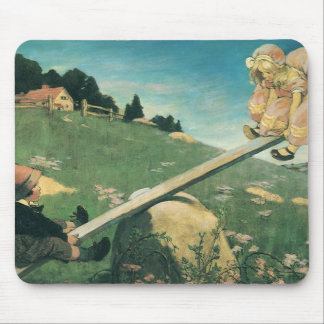 Vintage See Saw Margery Daw, Jessie Willcox Smith Mouse Pad