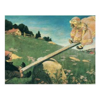 Vintage See Saw Margery Daw, Jessie Willcox Smith Post Cards