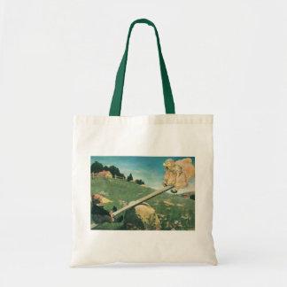Vintage See Saw Margery Daw, Jessie Willcox Smith Tote Bag