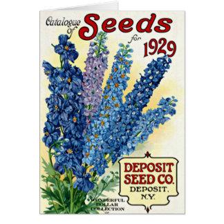 Vintage Seed Catalog 1929 Card
