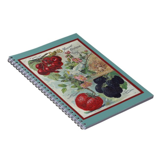 vintage seed catalog art notebook