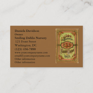 Vintage seed business cards templates zazzle vintage seed catalog business card colourmoves