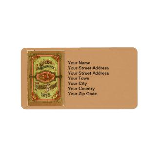 Vintage Seed Catalog Custom Address Labels