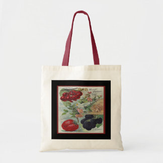vintage seed catalogue budget tote bag