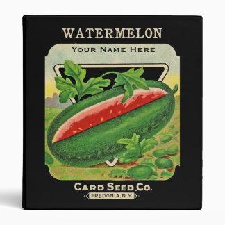 Vintage Seed Pack Custom 3-Ring Binder