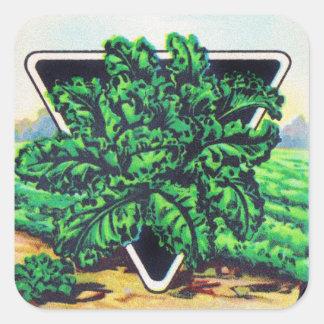 Vintage Seed Package Kale Vegetables Stickers