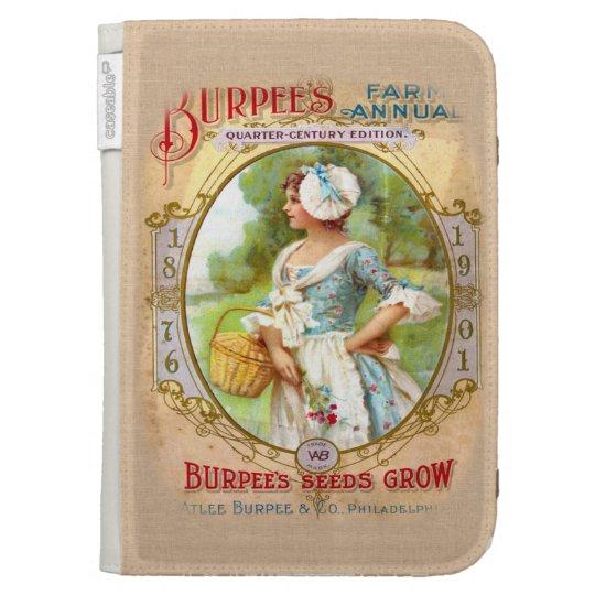 Vintage Seed Packet Art Kindle Case