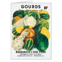 Vintage Seed Packet Art, Mixed Gourds Squash