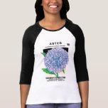 Vintage Seed Packet Art, Purple Aster Flowers T-Shirt