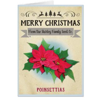 Vintage Seed Packet Christmas Card