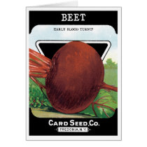 Vintage Seed Packet Label Art, Beet Vegetables
