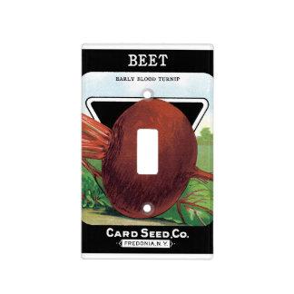 Vintage Seed Packet Label Art, Beet Vegetables Light Switch Cover