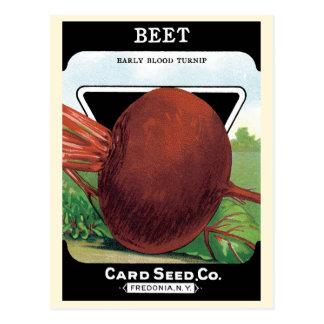 Vintage Seed Packet Label Art, Beet Vegetables Postcard
