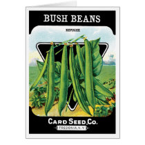 Vintage Seed Packet Label Art, Bush Bean Veggies