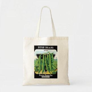 Vintage Seed Packet Label Art, Bush Bean Veggies Tote Bag