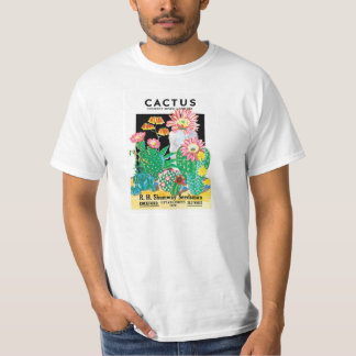 Vintage Seed Packet Label Art, Cactus Plants Tee Shirts