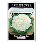 Vintage Seed Packet Label Art, Cauliflower Veggies