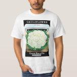 Vintage Seed Packet Label Art, Cauliflower Veggies T-Shirt