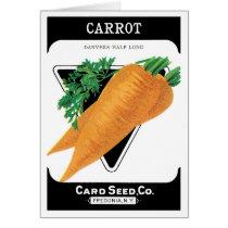 Vintage Seed Packet Label Art, Danvers Carrots