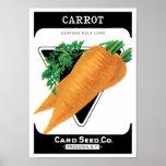 Vintage Seed Packet Label Art, Danvers Carrots Poster