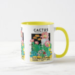 Vintage Seed Packet Label Art Desert Cactus Plants Mug