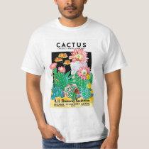 Vintage Seed Packet Label Art Desert Cactus Plants T-Shirt