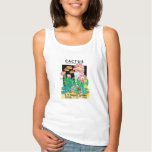 Vintage Seed Packet Label Art Desert Cactus Plants Tank Top