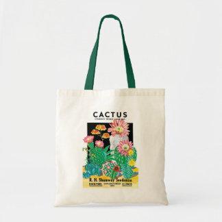 Vintage Seed Packet Label Art Desert Cactus Plants Tote Bag