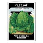 Vintage Seed Packet Label Art, Green Cabbage Card