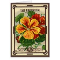 Vintage Seed Packet Label Art, Nasturtium Flowers