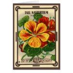Vintage Seed Packet Label Art, Nasturtiums