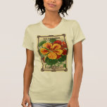 Vintage Seed Packet Label Art, Nasturtiums T-Shirt