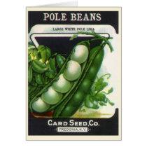 Vintage Seed Packet Label Art, Pole Lima Beans