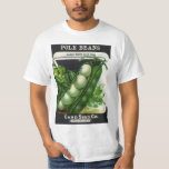Vintage Seed Packet Label Art, Pole Lima Beans T-Shirt