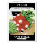 Vintage Seed Packet Label Art, Scarlet Radishes Card