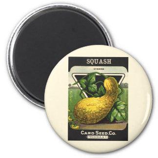 Vintage Seed Packet Label Art, Summer Squash Magnet