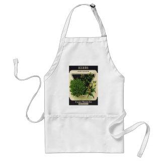 Vintage Seed Packet Label Art Sweet Marjoram Herbs Adult Apron
