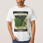 Vintage Seed Packet Label Art Sweet Marjoram Herbs T-Shirt