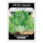 Vintage Seed Packet Label Art, Swiss Chard Veggies