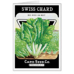 Vintage Seed Packet Label Art, Swiss Chard Veggies Card