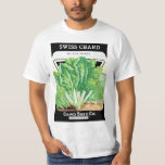 Vintage Seed Packet Label Art, Swiss Chard Veggies T-Shirt