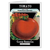 Vintage Seed Packet Label Art, Tomato Pomodoro