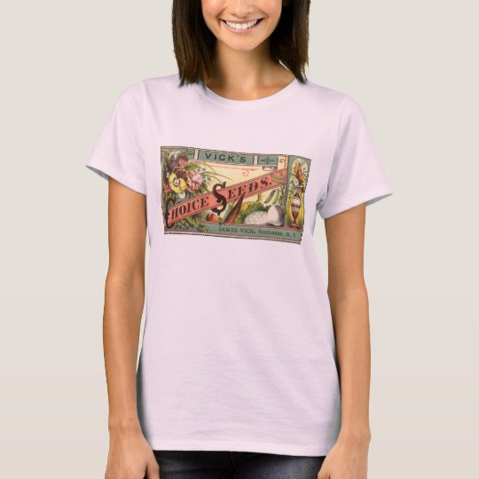 Vintage Seed Packet Label Art, Vick's Choice Seeds T-Shirt