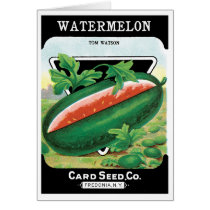 Vintage Seed Packet Label Art, Watermelons Fruit