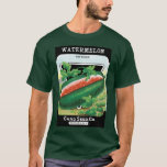 Vintage Seed Packet Label Art, Watermelons Fruit T-Shirt