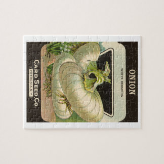 Vintage Seed Packet Label Art White Bermuda Onions Jigsaw Puzzle